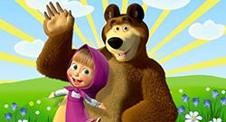 Маша и Медведь на немецком