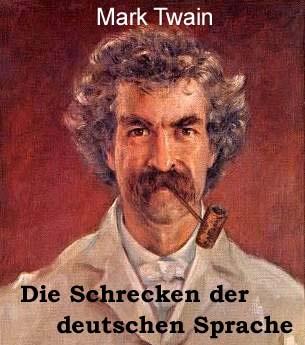 mark twain essay in german language
