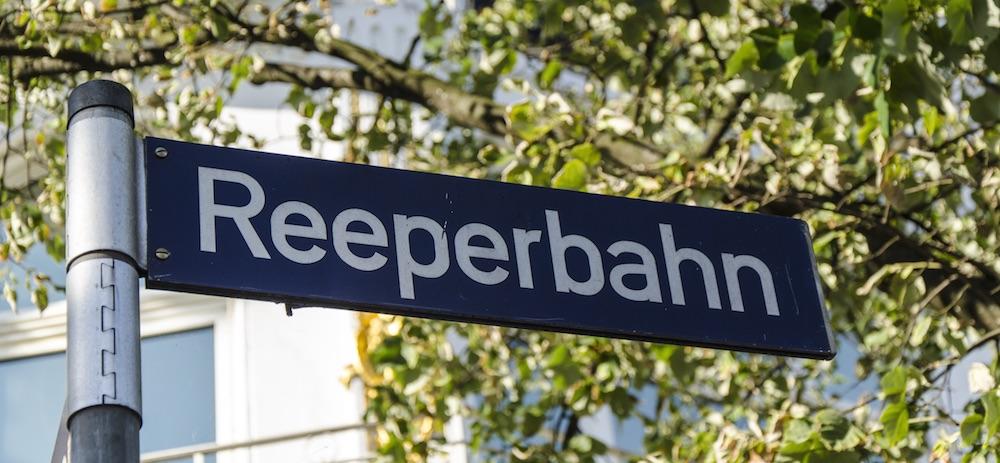 Гамбург район Санкт-Паули Рипербан Reeperbahn