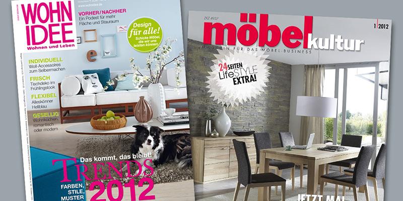 Обложки немецких журналов для дизайна интерьеров