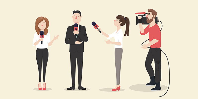 Журналисты, рисунок