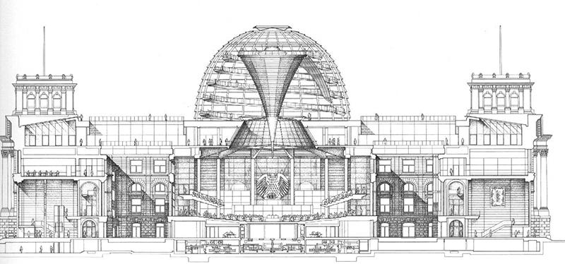 План Рейхстага, рисунок