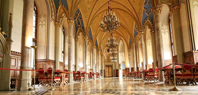 Замок Гогенцоллерн изнутри, фото