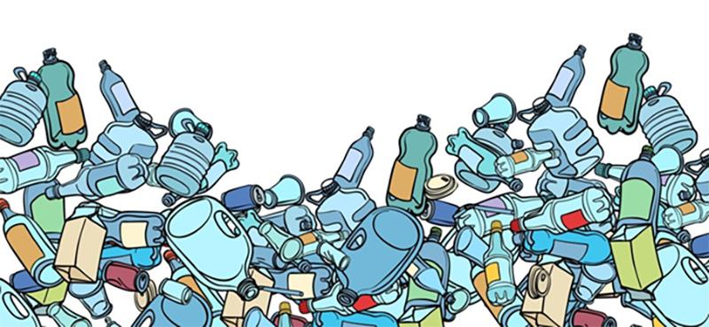Пластиковые бутылки, рисунок