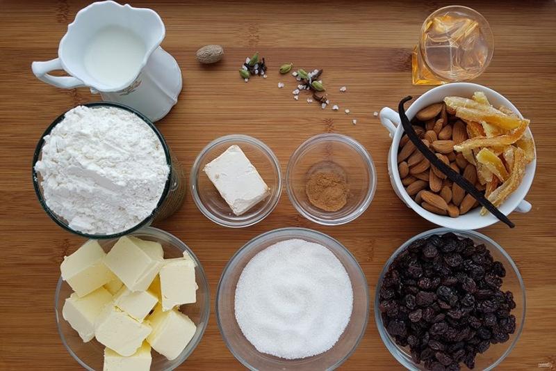 Ингредиенты для штоллена, фото