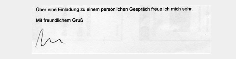 Как закончить письмо на немецком