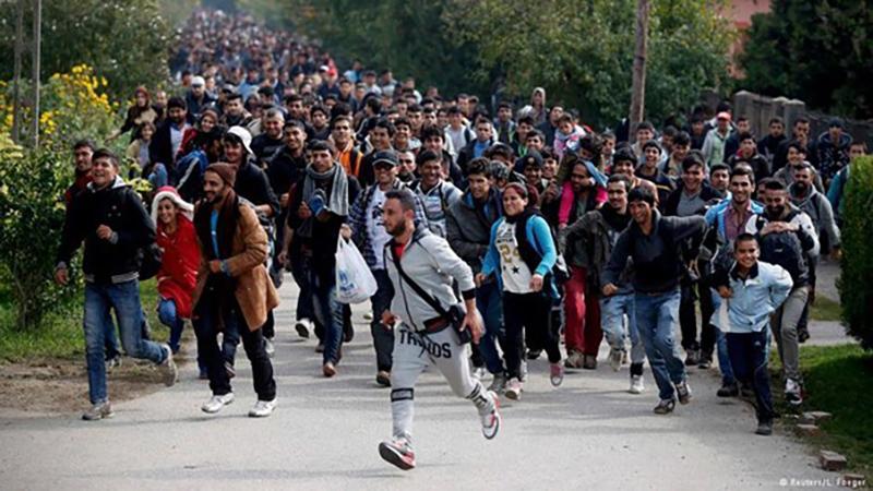 Толпа беженцев, фото