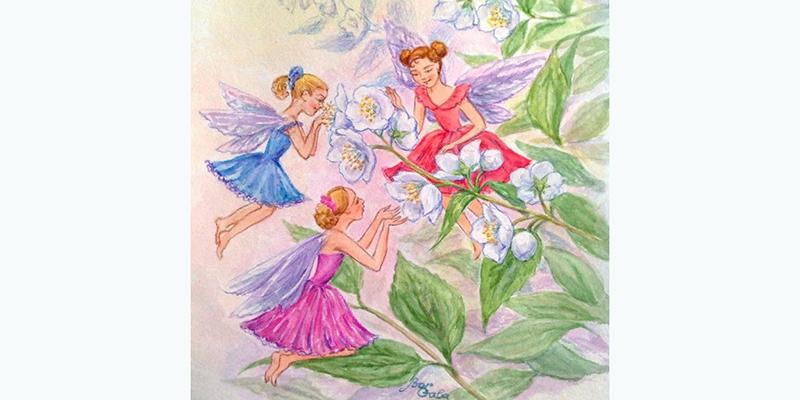 Три бабочки, иллюстрация к сказке