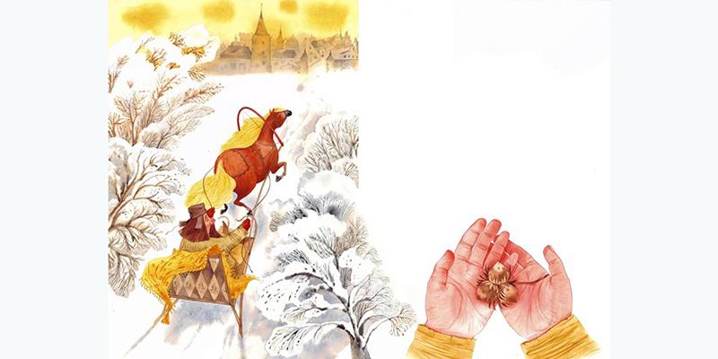 Три орешка, иллюстрация