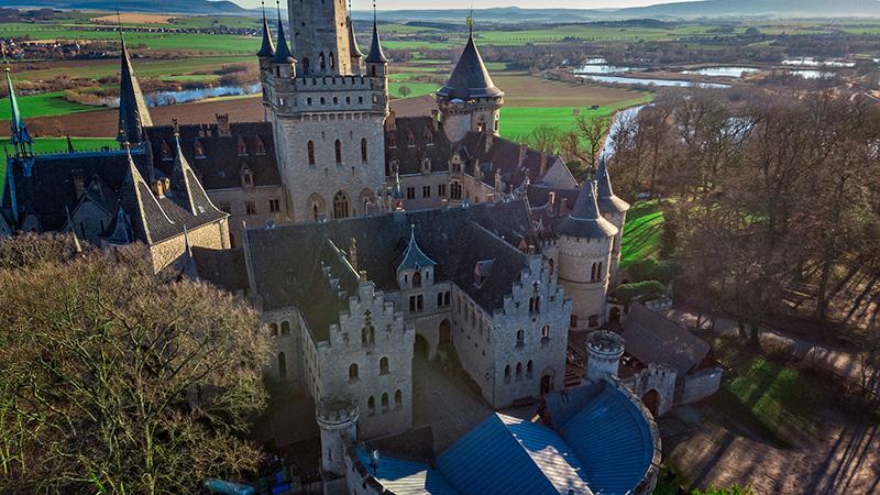 Замок Мариенбург, фото сверху