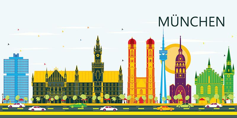 Панорама Мюнхена, рисунок