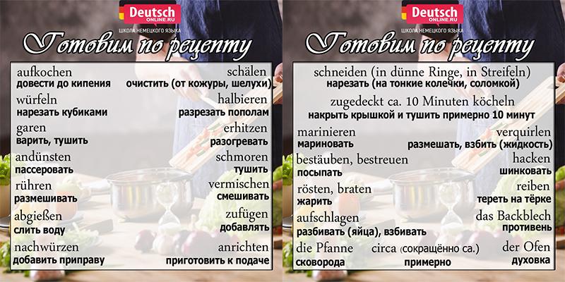 """Глаголы по теме """"Кухня"""""""