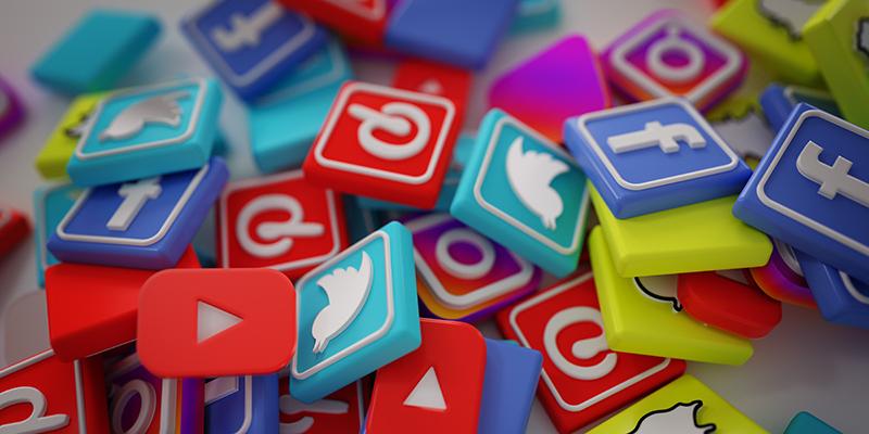Логотипы социальных сетей, рисунок