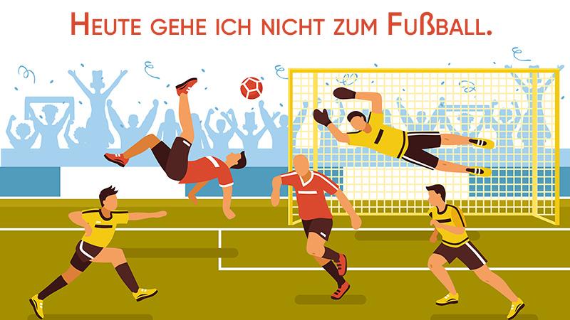 Игра в футбол, рисунок
