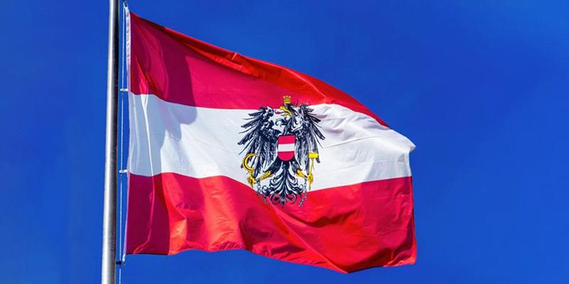 Флаг Австрии, фото