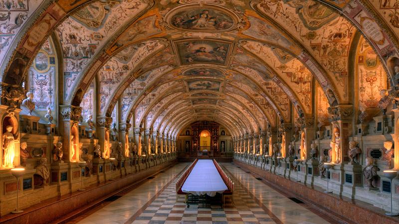 Мюнхенская резиденция изнутри, фото