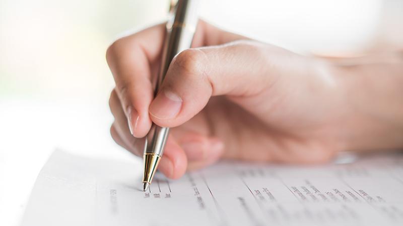 Экзаменационный лист, рука, ручка