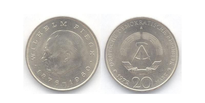 Монета с профилем Вильгельма Пика, фото