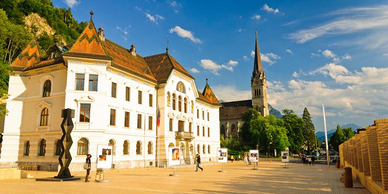 Столица Лихтенштейна Вадуц, фото