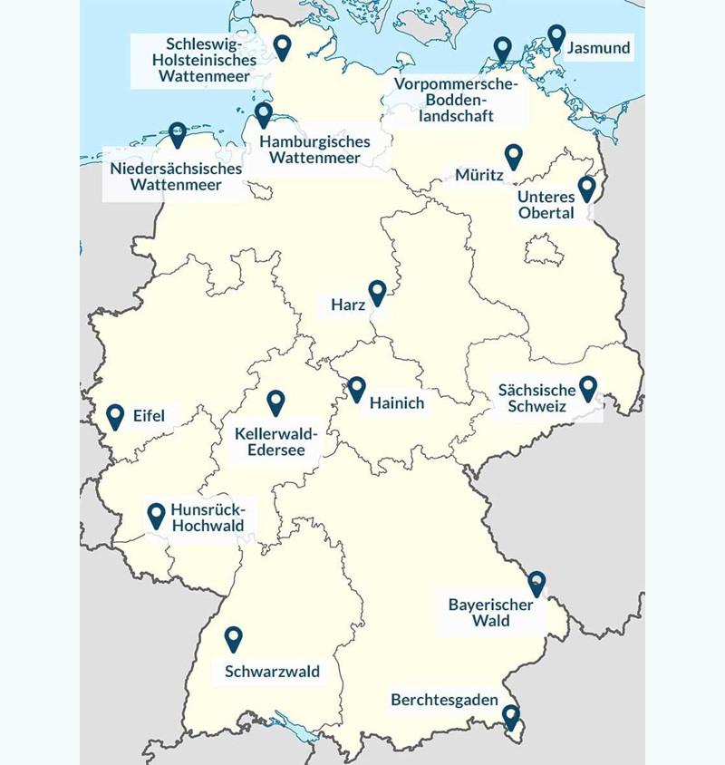 Карта национальных парков Германии