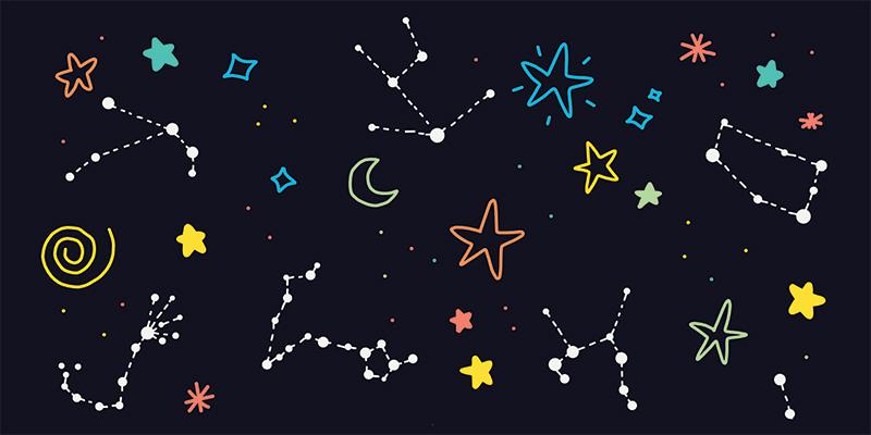 Созвездия, рисунок