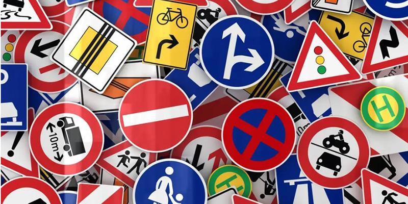 Дорожные знаки, рисунок