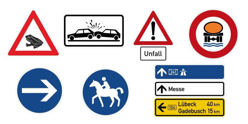Знаки, которых нет в России