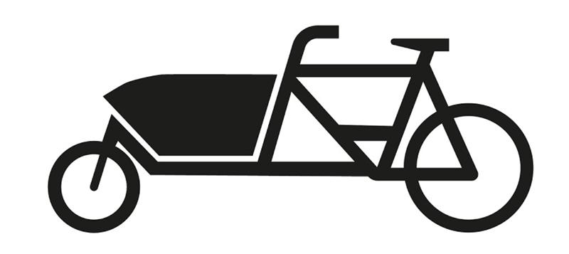 """Знак """"Грузовой велосипед"""" в Германии"""