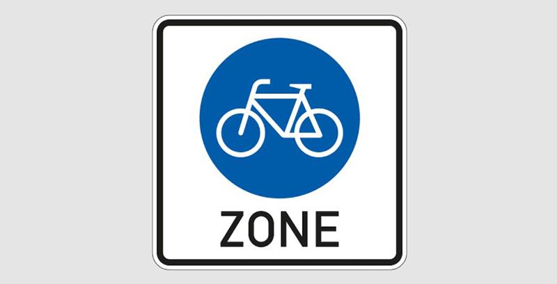 Знак велозоны в Германии