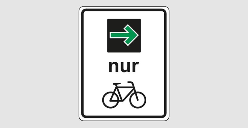 Знак велодорожки в Германии