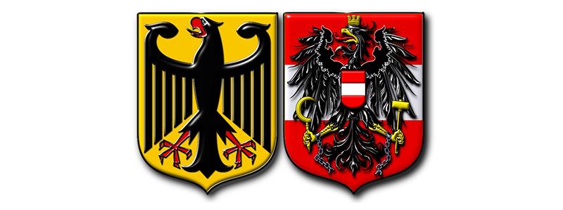 Гербы Австрии и Германии