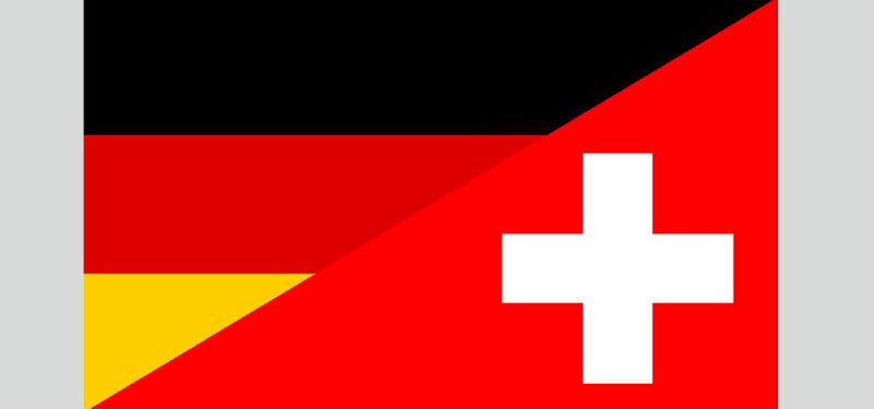 Флаги Германии и Швейцарии