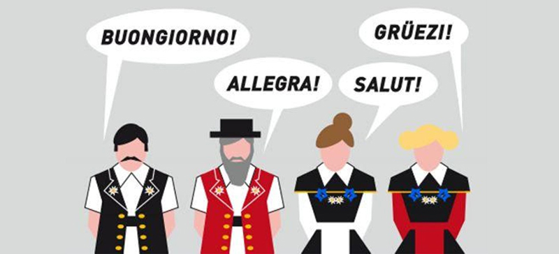 Приветствия на официальных языках Швейцарии
