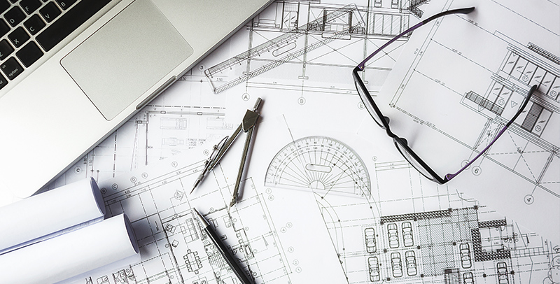Инженерный чертеж, фото